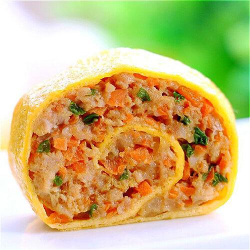 韩式私房鸡蛋蔬菜卷