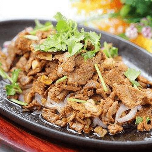 圆葱炒羊肉片