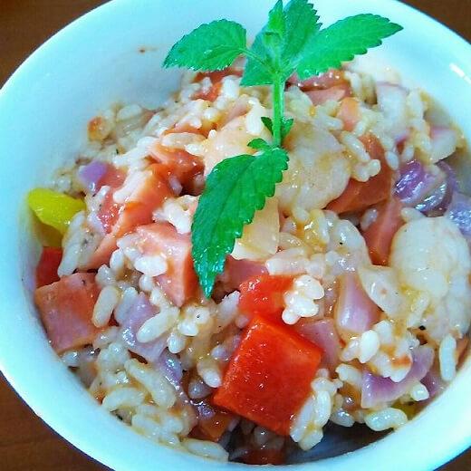虾仁蔬菜焖饭
