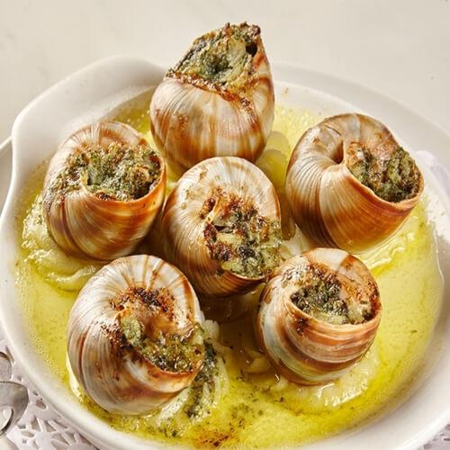营养的法式焗蜗牛