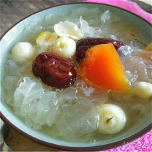 银耳百合莲子木瓜汤