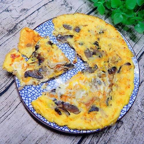 鸡蛋煎双菇