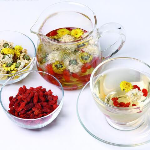 养生的菊花枸杞茶