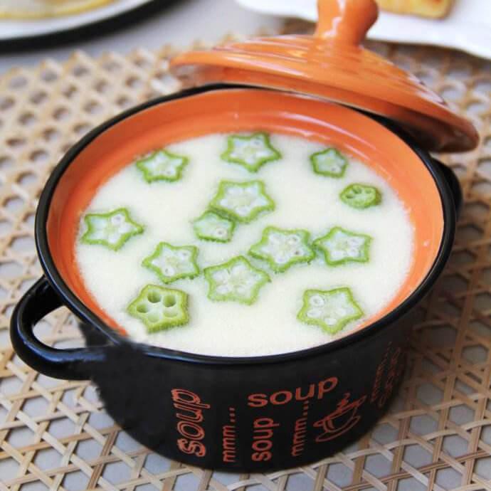 醇香秋葵熟豆豆浆