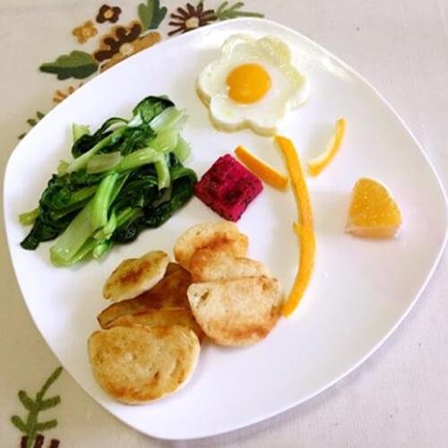 营养爱心拼盘早餐