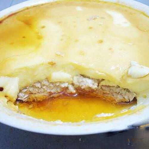 美味的鸡蛋玉米蒸肉饼
