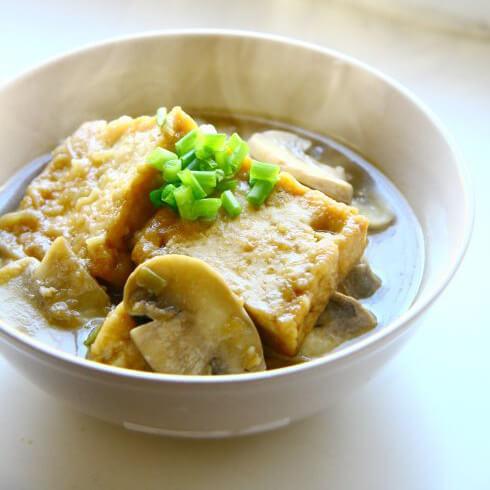 口蘑烧豆腐