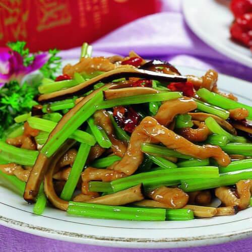 常吃不腻的芹菜炒香干