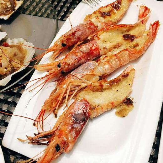 好吃的香煎阿根廷红虾
