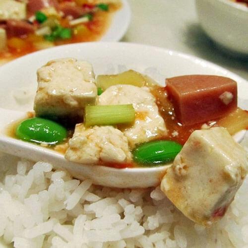 青豆火腿烩豆腐