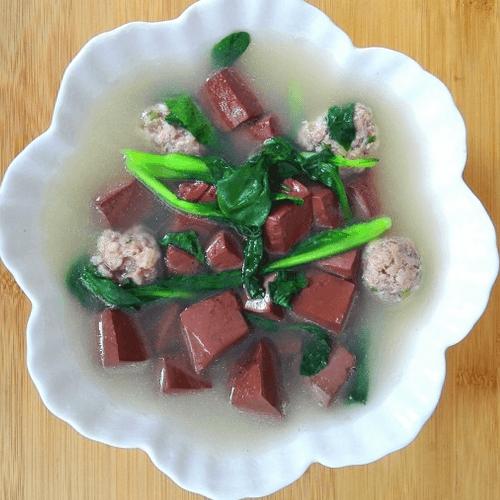 肉圆猪血汤