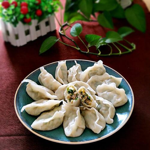 韭菜莲藕饺子