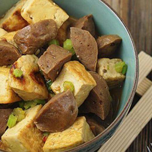 豆腐焖肉丸