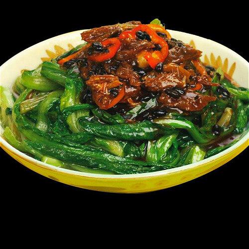 酱炖排骨油麦菜