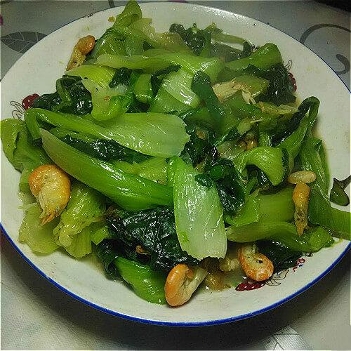 简单版海米油菜