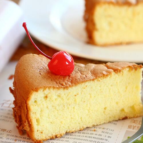 酸奶黑米戚风蛋糕