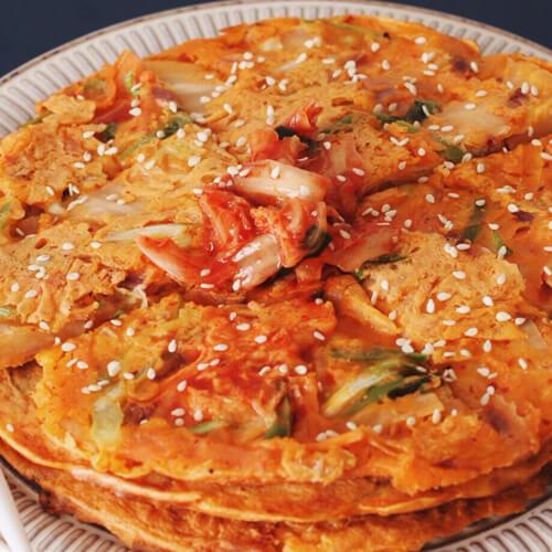 下饭的韩国泡菜饼