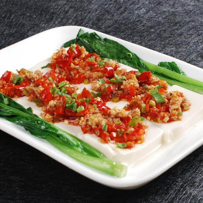 清蒸肉丝豆腐
