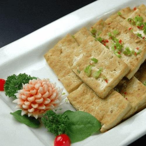 葱香煎豆腐