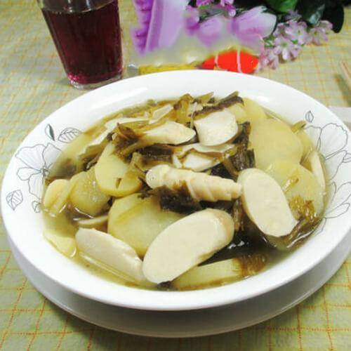 雪菜鞭笋煮土豆