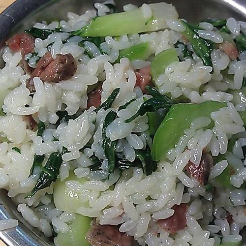 懒人菜-咸肉菜饭