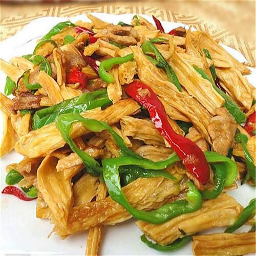 腐竹土豆片炒青椒