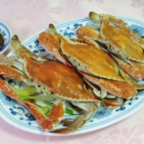 好吃的水煮梭子蟹