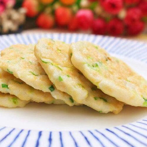 葱香山药鱼饼