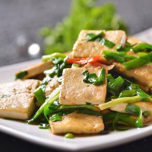 韭菜镶豆腐