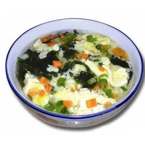 油而不腻的紫菜蛋花汤