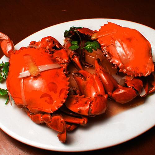 咸肉圆白菜煮螃蟹