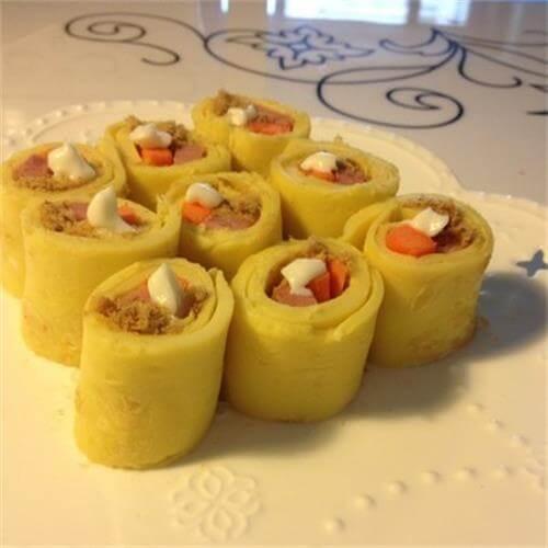 香肠火腿鸡蛋卷