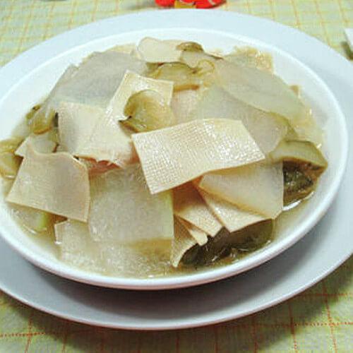 榨菜千张炒冬瓜