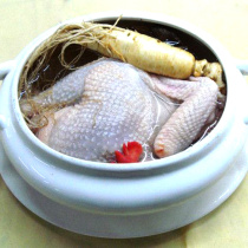鲜人参炖鸡