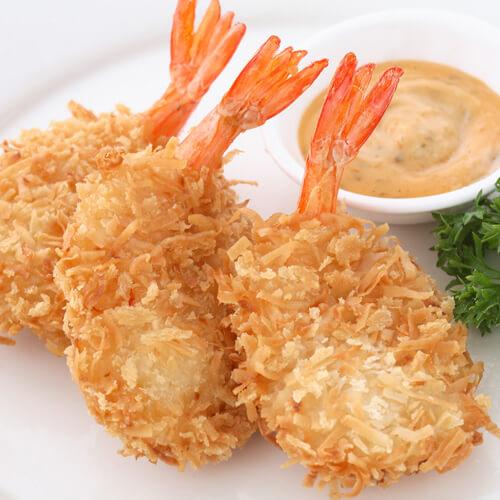 橙汁面包虾