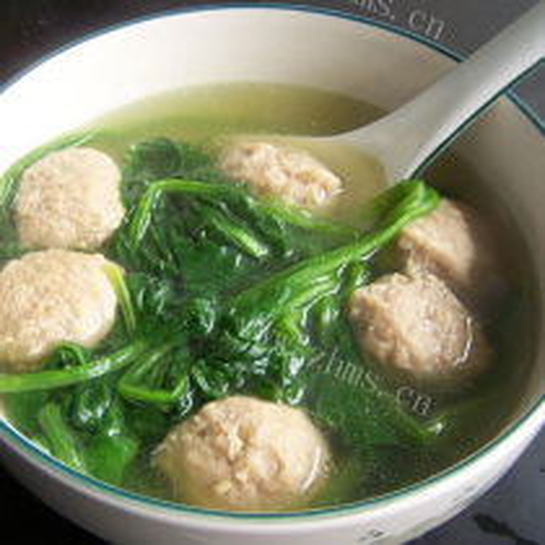 冬瓜蛋卷肉丸子汤
