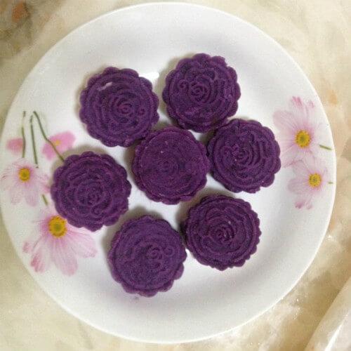 好吃的紫薯山药糕