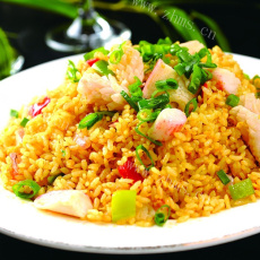 黄金柿海虾炒饭