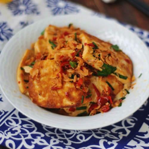 虾皮煎豆腐
