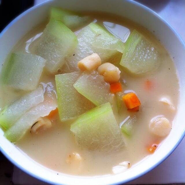 扇贝冬瓜白菜汤