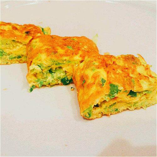 蛋香莜面菜卷