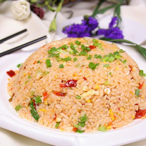 西红柿炒米饭