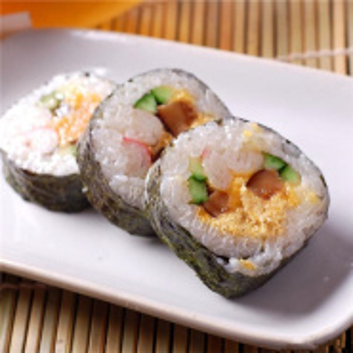 美味的烧三鲜海苔寿司