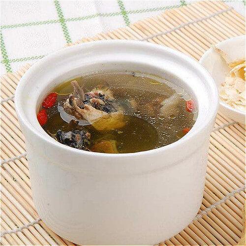 蟹味菇青菜乌鸡汤