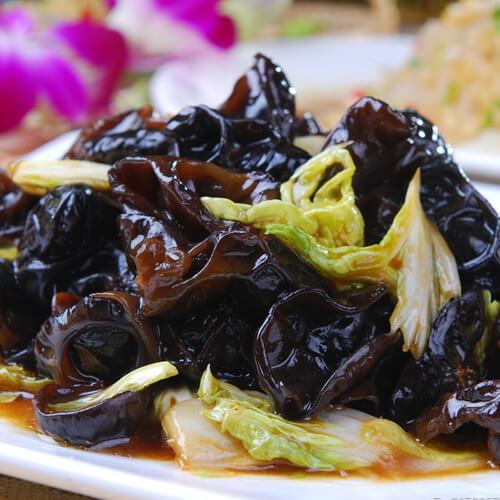 木耳肉丝炒大白菜