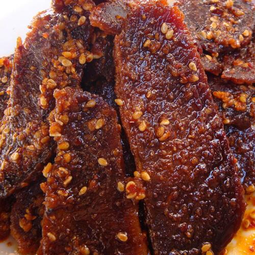 珍馐美味的麻辣牛肉