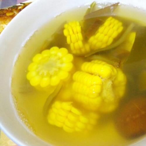 鲜美玉米香菇海带头汤