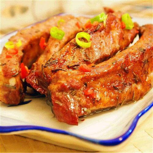 图解 鲜嫩/鲜嫩迷迭香烤羔羊排