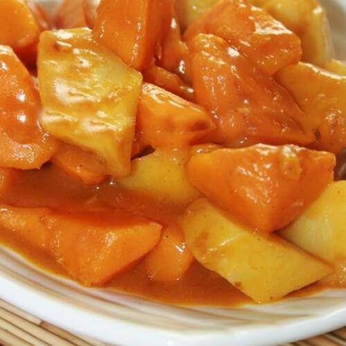 南瓜炖土豆地瓜胡萝卜