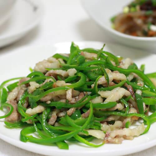 家常菜青椒肉丝